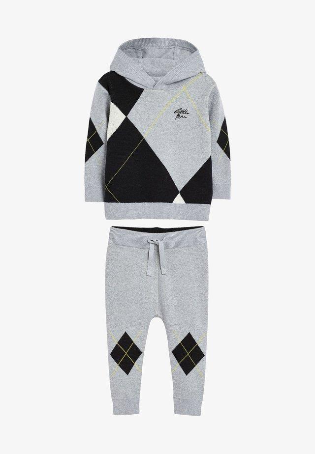 ARGYLE PATTERN SET - Trainingsanzug - grey
