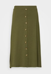 Even&Odd - A-line skirt - olive night - 3