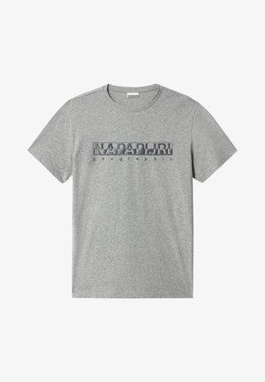 SALLAR - Print T-shirt - medium grey melange