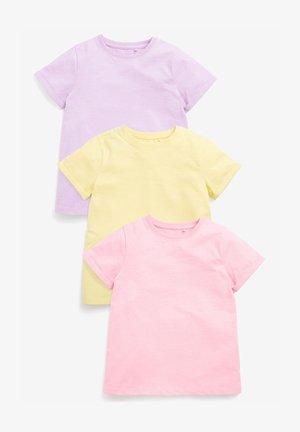 3 PACK - T-Shirt basic - pink/lilac/light yellow