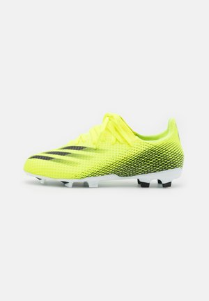 X GHOSTED.3 FG UNISEX - Fotbollsskor fasta dobbar - solar yellow/core black/royal blue