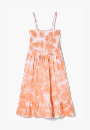 MIT BATIK-EFFEKT - Jersey dress - apricot