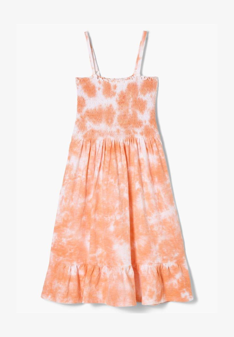 s.Oliver - MIT BATIK-EFFEKT - Jersey dress - apricot
