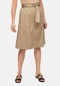 s.Oliver BLACK LABEL - A-line skirt - warm sand - 4