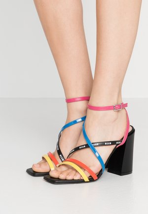 DONNA WOMANS - High heeled sandals - multicolor/black