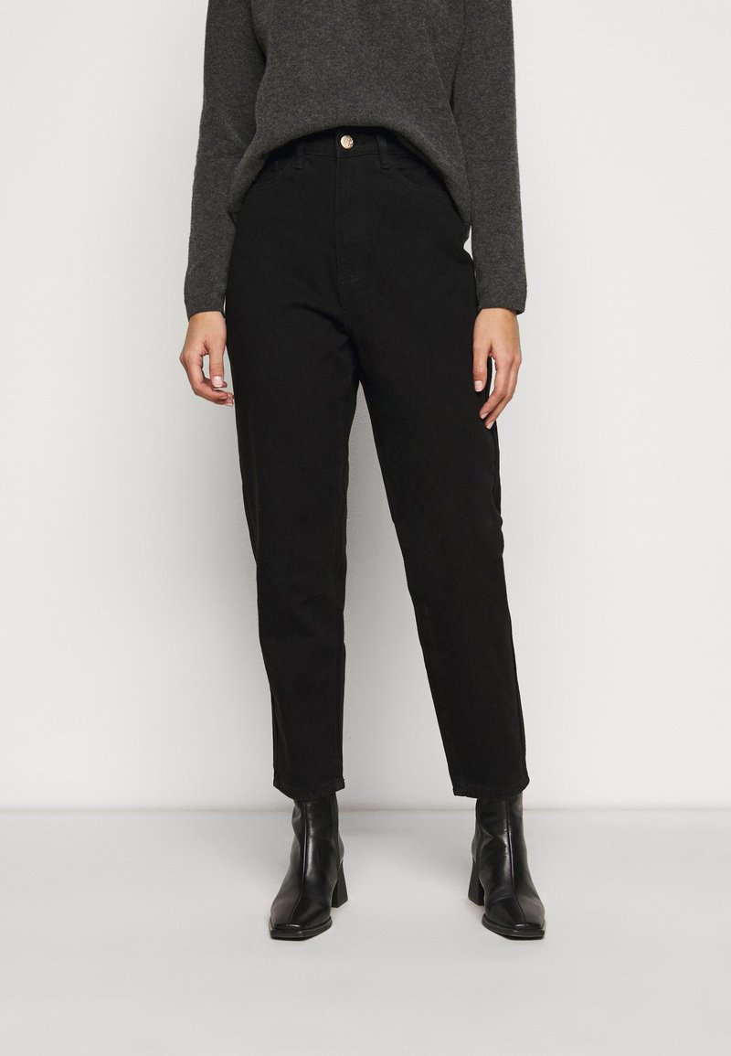Missguided Petite - RIOT MOM - Jeans a sigaretta - black