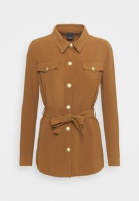 Pinko - GRAZIOSO CAMICIA FLUIDO - Button-down blouse - brown - 0