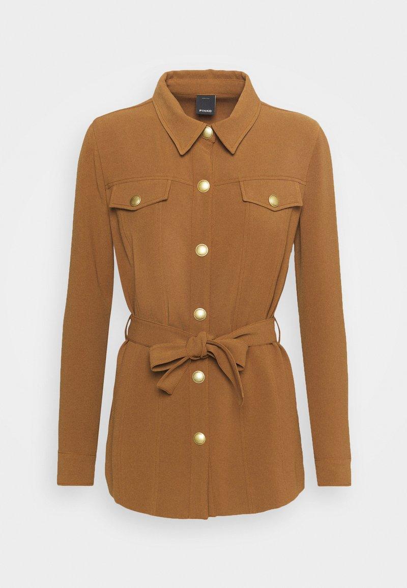 Pinko - GRAZIOSO CAMICIA FLUIDO - Button-down blouse - brown