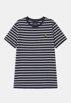 BRETON - Print T-shirt - navy blazer