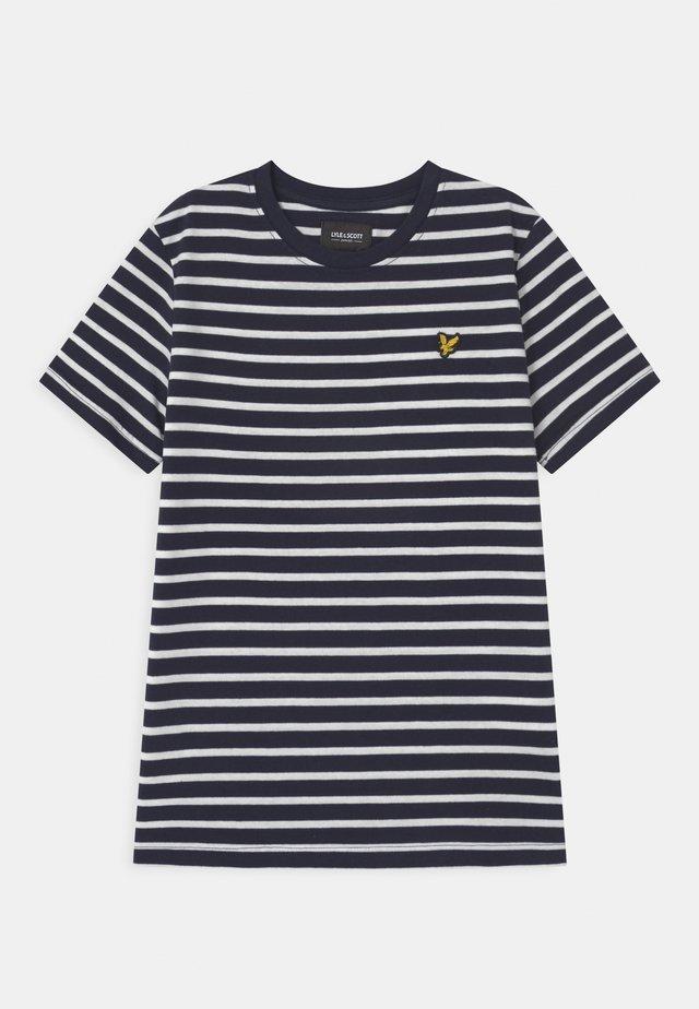BRETON - T-shirt print - navy blazer
