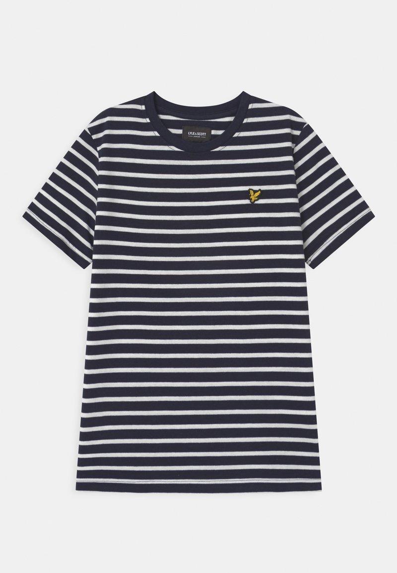 Lyle & Scott - BRETON - Print T-shirt - navy blazer