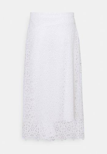 SKIRTS - Áčková sukně - white