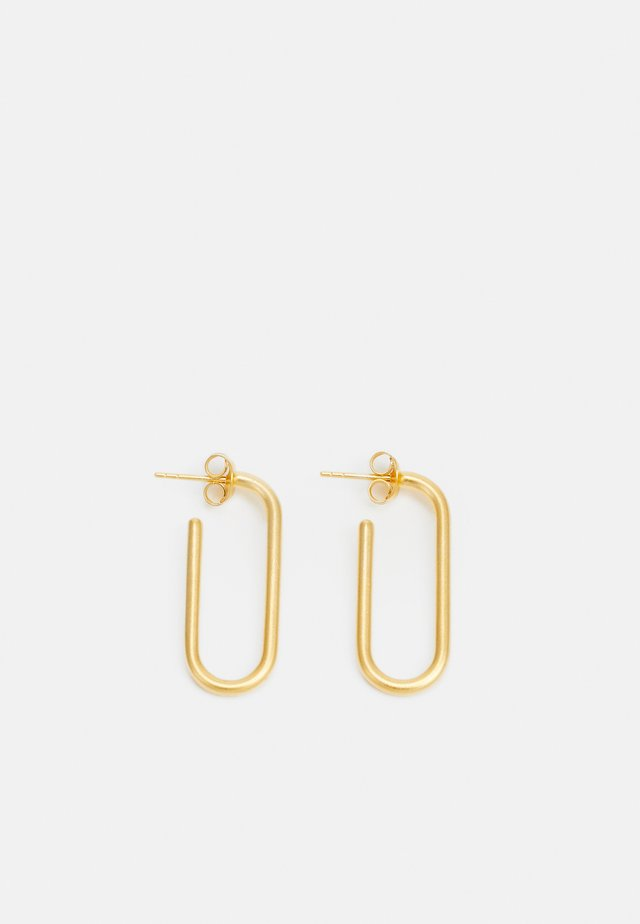 LINK HOOPS - Øreringe - gold-coloured