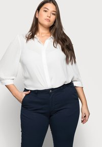 Selected Femme Curve - SLFILEY - Chinot - navy blazer - 4