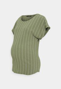 Supermom - TEE TRIPE - Print T-shirt - dusty olive - 0