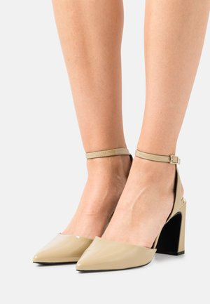 VEGAN DAMARA - High heels - dark yellow