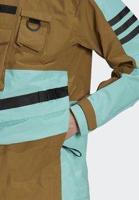 adidas Performance - XPLORIC RAIN JACKET - Hardshell jacket - wild moss/acid mint - 10