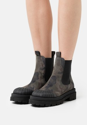STUDIO - Platform ankle boots - antracite