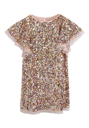 PINK FLOATY SLEEVE SEQUIN DRESS (3-16YRS) - Cocktail dress / Party dress - pink