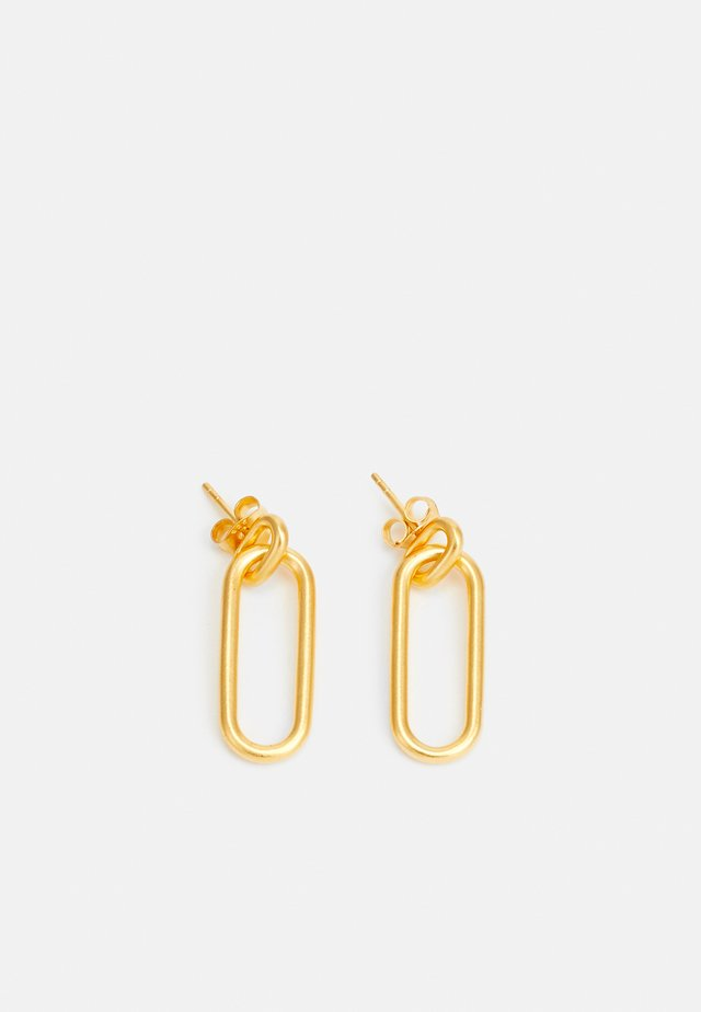 LINK EARSTUDS - Øreringe - gold-coloured