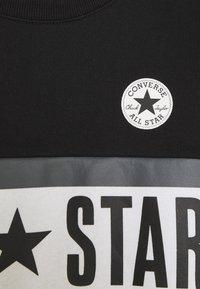 Converse - ALL STAR PANELED CREW UNISEX - Sweatshirt - black - 2