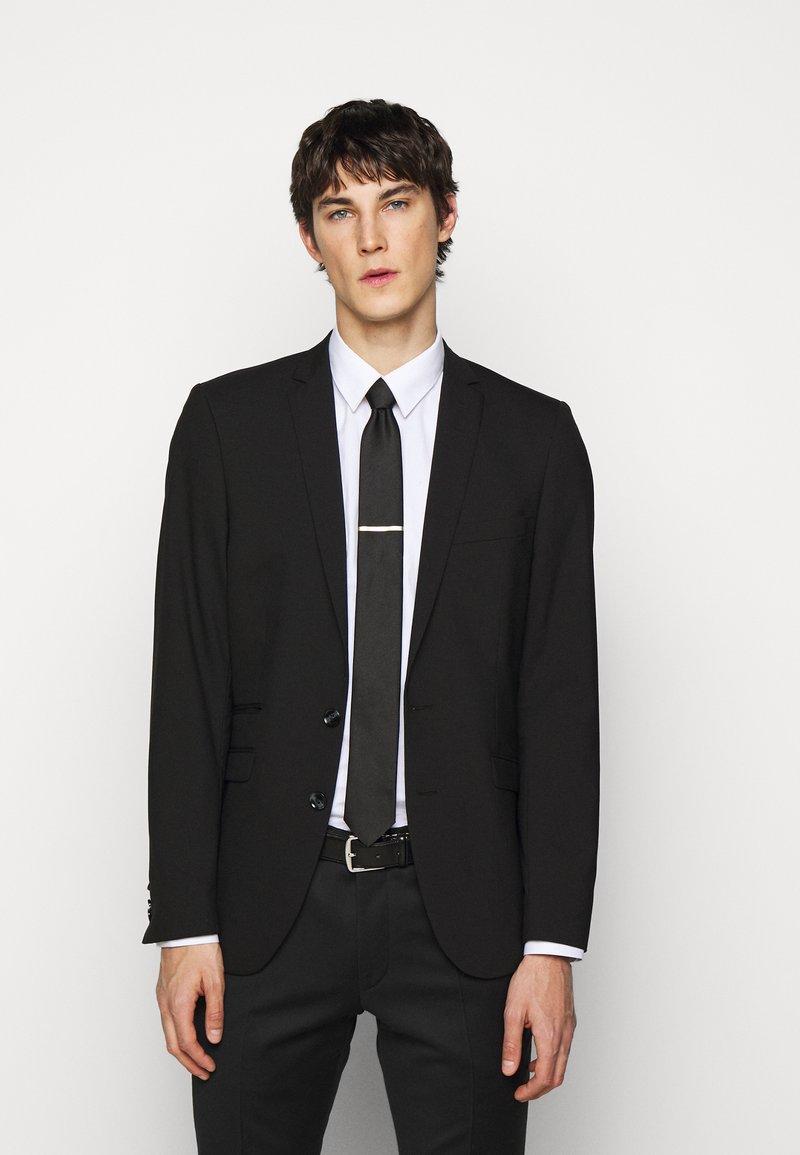 HUGO - TIE REFLECTIVE - Cravate - black