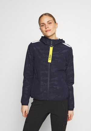 WOMAN JACKET FIX HOOD - Hardshell jacket - dark blue