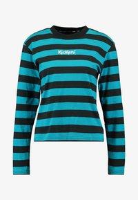 Kickers Classics - RUGBY STRIPE LONGSLEEVE - T-shirt à manches longues - teal/black - 4