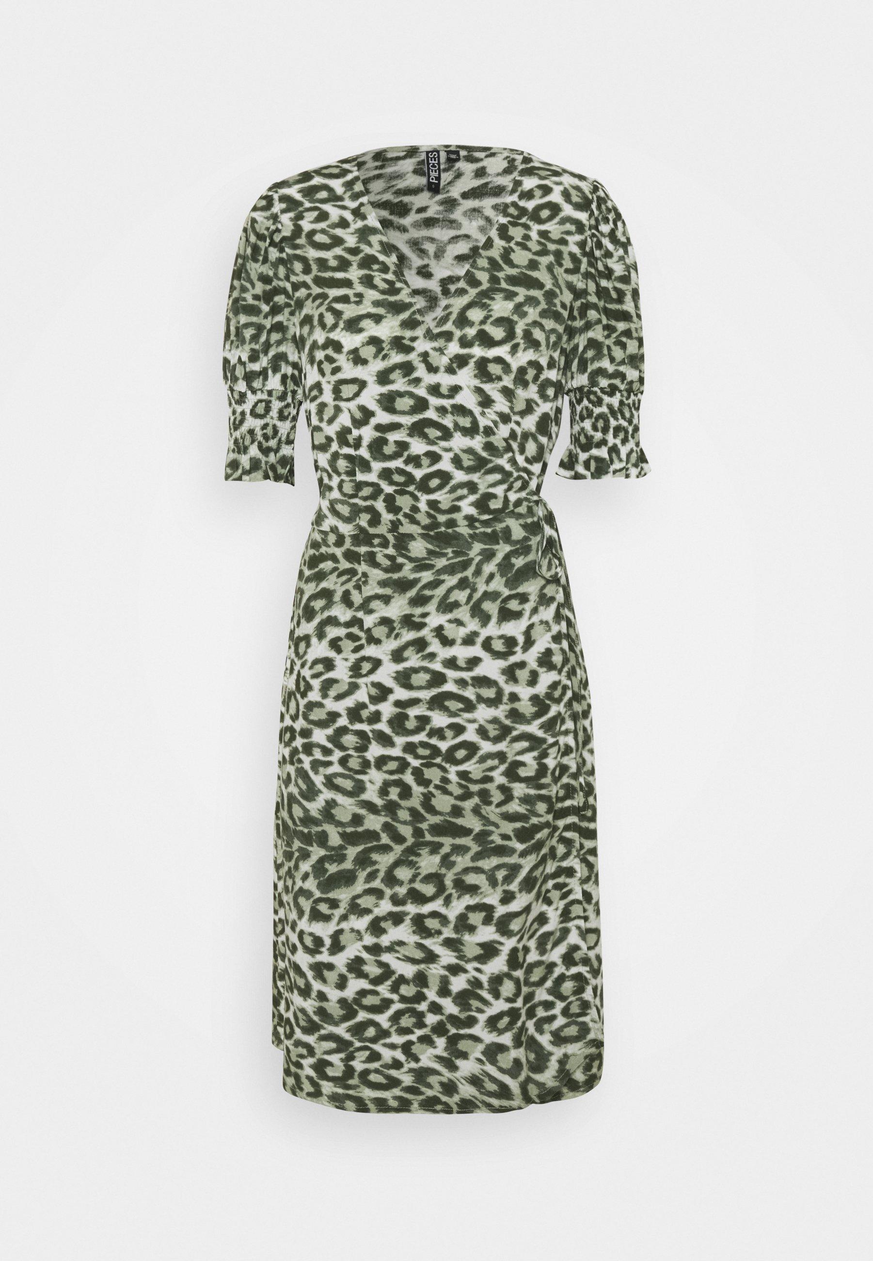 Women PCMIKELA WRAP DRESS - Day dress