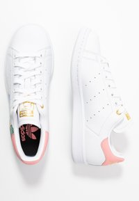 adidas Originals - STAN SMITH  - Sneakers laag - footwear white/glow pink/gold metallic