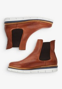 Bianco - CLEATED  - Platform ankle boots - cognac - 5