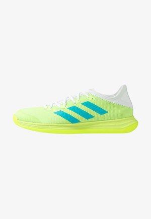 ADIZERO FASTCOURT  - Håndboldsko - sigal green/signal cyan/footwear white