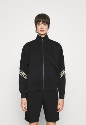 GLITTER TAPE ZIP UP - Zip-up sweatshirt - black/gold