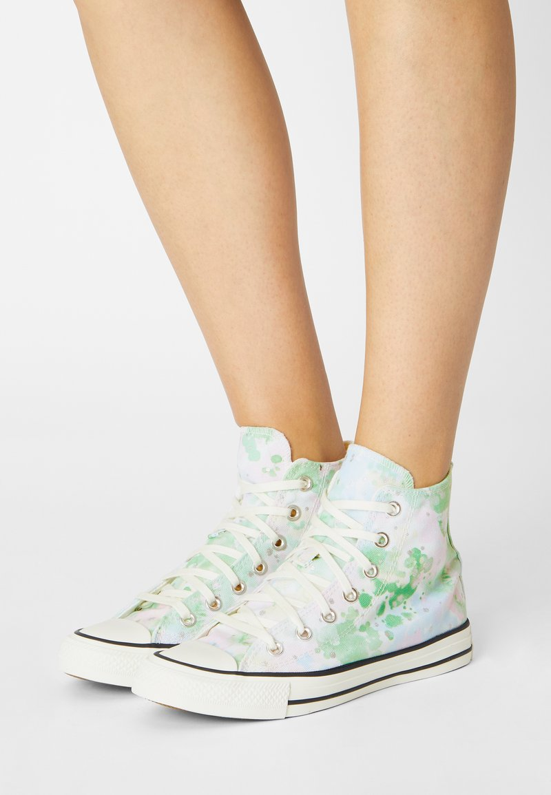 Converse - CHUCK TAYLOR ALL STAR SUMMER FEST - Zapatillas altas - egret/spring green/black