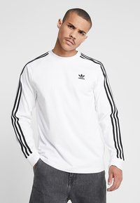 adidas Originals - 3 STRIPES UNISEX - Long sleeved top - white - 0
