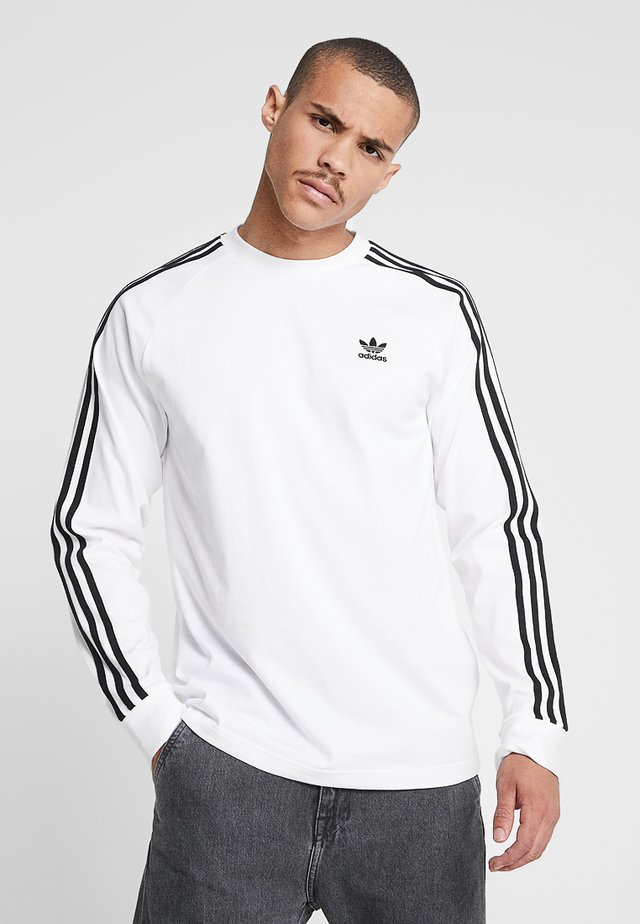 3 STRIPES UNISEX - Long sleeved top - white