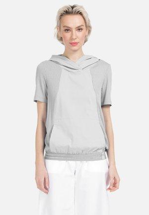 KURZARMBLUSE BLUSE - Print T-shirt - hellgrau