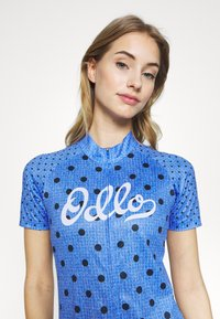 ODLO - STAND UP COLLAR FULL ZIP ELEMENT - T-Shirt print - amparo blue melange/diving navy - 3