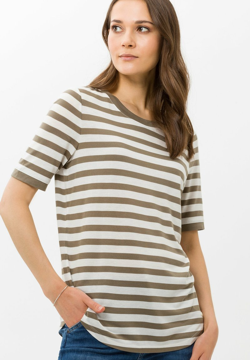 BRAX - STYLE COLETTE - T-shirt imprimé - khaki