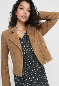 ONLY - Leather jacket - cognac - 3