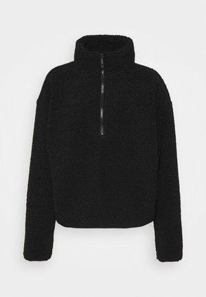 CROP  - Fleece jumper - black
