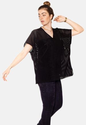 RILEY OVERSIZED SUEDE  - Blouse - black