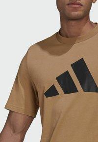 adidas Performance - Print T-shirt - brown - 2