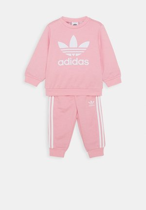 CREW SET UNISEX - Verryttelypuku - light pink/white