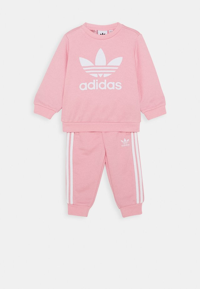 CREW SET - Collegepaita - light pink/white