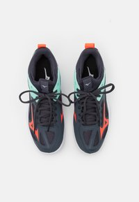 Mizuno - GHOST SHADOW - Handball shoes - india ink/fiery coral/ice green - 3
