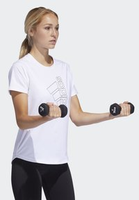 adidas Performance - BADGE OF SPORT T-SHIRT - Print T-shirt - white - 2