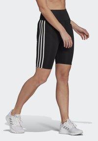 adidas Performance - DESIGNED TO MOVE HIGH-RISE SHORT SPORT TIGHTS - Medias - black/white - 2