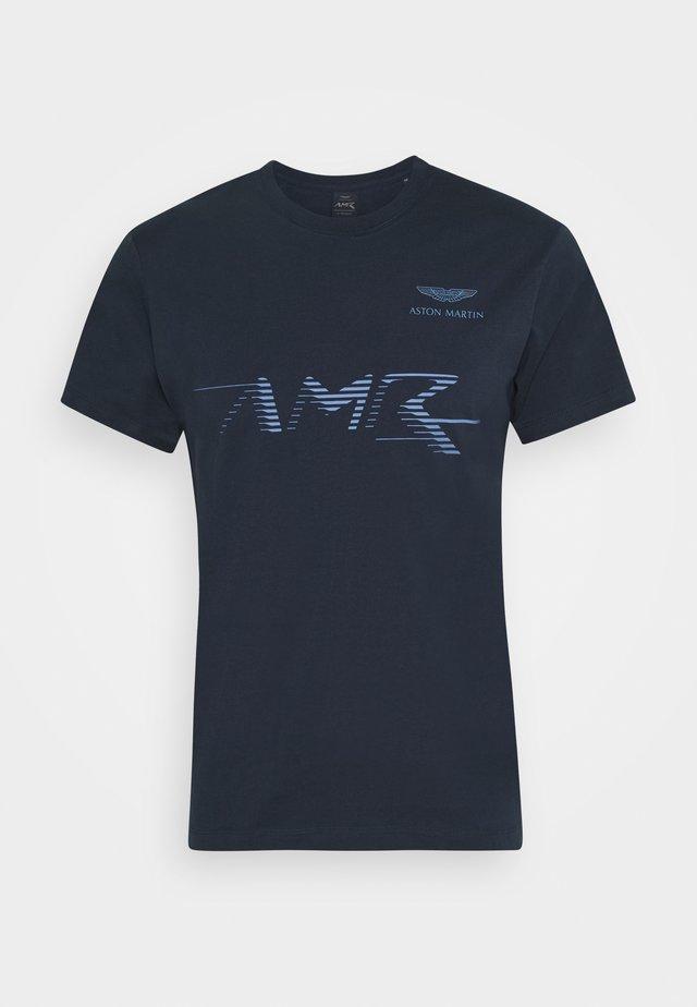 LOGO TEE - T-shirt imprimé - navy