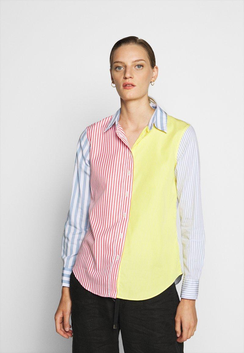 Lauren Ralph Lauren - JAMELKO LONG SLEEVE - Button-down blouse - multi coloured